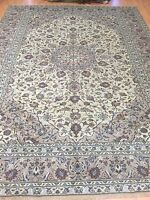 """8' x 10'9"""" Indian Oriental Rug - 1960s - Full Pile - Hand Made - 100% Wool"""