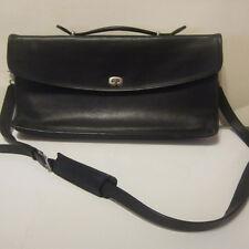 Authentic Coach Vintage Black Leather Lexington Briefcase Messenger Bag
