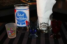 Jack Daniel's , PBR Glass  & 3 Shot Glasses