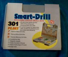 NIB AS SEEN ON TV SMART-DRILL 301 pc SET IN HANDY TOOL BOX