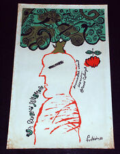 "1988 Original Cuban Movie Poster.Plakat.Affiche.affisch""Eterno Sembrador""Art"