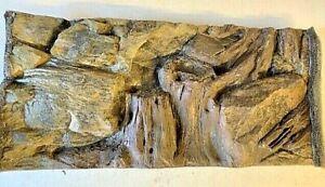 3D Aquarium Background- Root & Rock For Fish Tank/  Terrarium- Polyresin 60x30cm