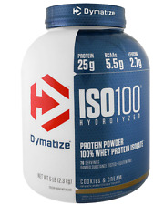 NEW DYMATIZE NUTRITION ISO100 HYDROLYZED 100% WHEY PROTEIN ISOLATE 5 lbs 2.27 kg