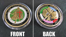 Put on the Whole Armor of God Challenge Coin Ephesians 6:13-17 Gold Color Bible