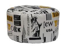 POUF BEAN BAG TONDO PER INTERNO SFODERABILE NEW YORK