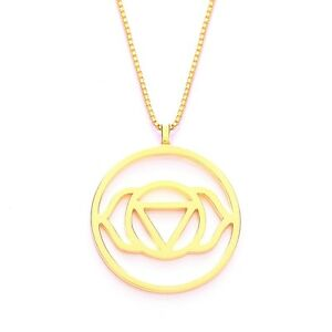Daisy London SALE! 24ct Gold Plated Brow Chakra Pendant Necklace