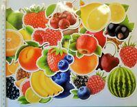 50x Früchtemix Obst Aufkleber Sticker Stickerbomb Marmelade Etiketten Küche