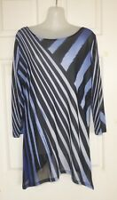 UNBRANDED Size M Black/Blue Net Blouse or Top