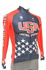 Cuore Team USA Cycling Thermal Long Sleeve Jersey Men SMALL Blue Road Bike MTB