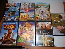 18 DOG Movies on 7 DVDs- Kid's Summer New Pet Owner-G & PG-HACHI,JOCK,A DOG YEAR