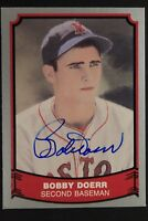 1988 PACIFIC #73 BOBBY DOERR (d.2017) HOF RED SOX SIGNED AUTOGRAPHED