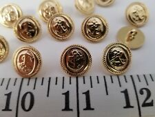 New listing Vintage Buttons Set Of 12 Gold Anchor Tuz2415