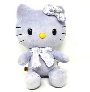 "Hello Kitty Plush Build A Bear Small Frys SF 8"" Tall Light Purple w/ Scarf & Bow"