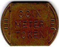VINTAGE COIN METER OBLONG IRREGULAR SHAPE TOKEN COIN