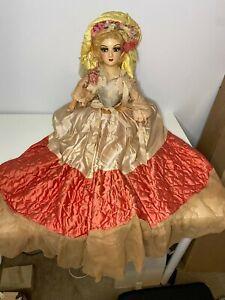 Antique 1920s Boudoir Bed Doll