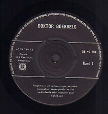 "J. EIJKELBOOM / DOKTOR GOEBBELS - Doktor Goebbels (VINYL SINGLE 7"" HOLLAND)"