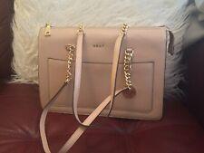 Dkny Tan Leather Handbag Tote