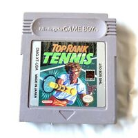 Top Rank Tennis ORIGINAL NINTENDO GAMEBOY GAME Tested WORKING Authentic!