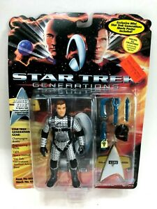 "NEW *Sealed* STAR TREK GENERATIONS 5"" Figure Kirk in Silver Space Suit"