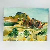 Original Watercolor Painting by MURRAY KESHNER Mountain LANDSCAPE Desert