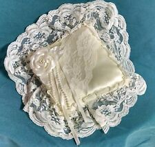 Ivory, Satin Covered Ring Bearer Pillow