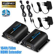 3D HDMI Extender Cat6/6A/7 Netzwerkkabel 60m/196ft 1080P IR Control RJ45 Adapter