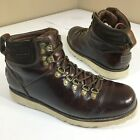 d Ugg CAPULIN Men's Brown WATERPROOF Leather SHEARLING Lined HIKING Boots 10 M