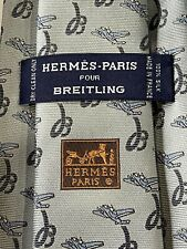 Rare HERMES Pour BREITLING Flying B Tie - Collectible