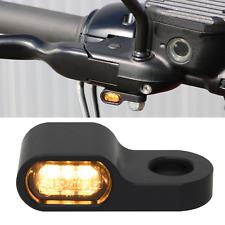 2x mini Motorrad Led Blinker + Blinkerhalter 15mm E-Gep. Lenkerarmaturen schwarz