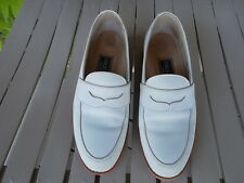 Women's Cole Haan Suede Cream Penny Loafers Shoes Size 6 C