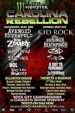 CAROLINA REBELLION 2014 CONCERT TOUR POSTER-Hard/Alt/Rap Rock, Heavy Metal Music