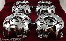 Fuel Wheels Chrome Custom Wheel Center Caps Set 4  # 1001-56 / CAP M-452