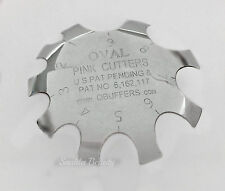 Q French Pink & White Cutter Tool- PINK CUTTERS OVAL size 1 - 9 - Brand New