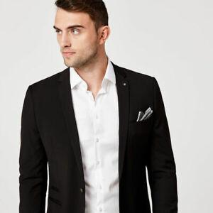 Politix Mens Fenwick Suit Jacket Medium Pants 30 Ultra Slim LIKE NEW (worn once)