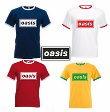OASIS T SHIRT - RINGER STYLE - STONE ROSES - RETRO