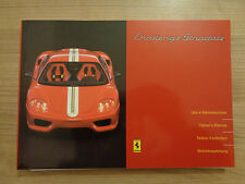 Ferrari 360 Challange Stradale Owners Handbook/Manual