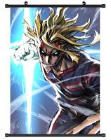 "Hot Anime Boku no Hero Academia All·Might Decor Poster Wall Scroll 8""x12"" P117"