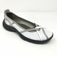 Women's Privo by Clarks Loafers Flats Shoes Size 6.5M White Leather Casual G6