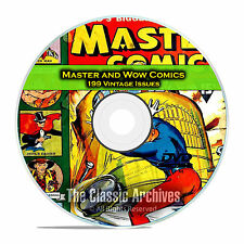 Master and Wow Comics, 199 Issues, Golden Age Comics PDF DVD C94