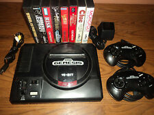 Sega Genesis 16 Bit Console and Family Game Lot Ready to Play!!