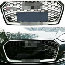 For Audi A5 S5 B9 2017-2018 Front Bumper Grille Honeycomb Hood Grill RS5 Style
