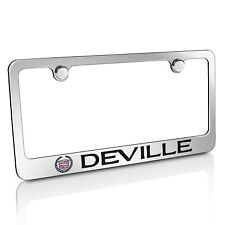 Cadillac Deville Chrome Metal License Plate Frame