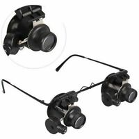 Magnifier Magnifying 20X Eye Glass Loupe Jeweler Watch Repair with LED Light