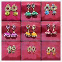 Indian Bollywood Traditional Women Thread Fashion Jewelry Earrings Jhumka Jhumki