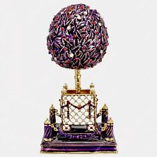 5'' EASTER ENAMELED BAY ORANGE TREE MUSIC EGG RUSSIAN TRADITIONS OF FABERGE