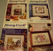 Vintage Cross Stitch Pattern and Magazine 29 Lot of 8