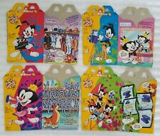 WARNER BROS. ANIMANIACS McDONALD'S HAPPY MEAL SET OF FOUR HAPPY MEAL BOXES
