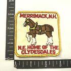 Vtg Merrimack N.H. N.E. HOME OR THE CLYDESDALES Budweiser Beer Horses Patch 09R1