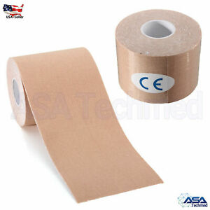 2 Rolls Kinesiology Sports Muscles Running Care Elastic Physio Therapeutic Tape
