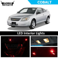 Red LED Interior Lights Accessories Package Kit fits 2005-2010 Chevrolet Cobalt